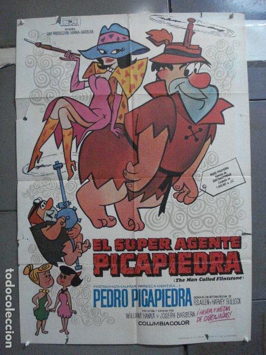 CDO 4854 EL SUPERAGENTE PICAPIEDRA FLINSTONES SERIE TV DIBUJOS ANIMADOS POSTER ORIG 70X100 ESTRENO (Cine - Posters y Carteles - Infantil)