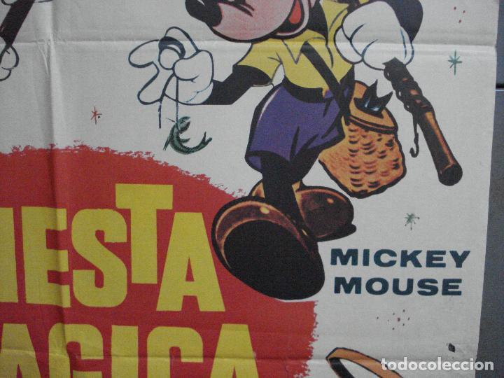 Cine: CDO 4858 FIESTA MAGICA WALT DISNEY MICKEY MOUSE DONAL GOOFY PLUTO POSTER ORIGINAL 70X100 ESTRENO - Foto 7 - 217088155