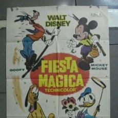Cine: CDO 4858 FIESTA MAGICA WALT DISNEY MICKEY MOUSE DONAL GOOFY PLUTO POSTER ORIGINAL 70X100 ESTRENO. Lote 217088155