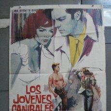 Cine: CDO 4870 LOS JOVENES CANIBALES NATALIE WOOD ROBERT WAGNER POSTER ORIGINAL 70X100 ESTRENO. Lote 217093988