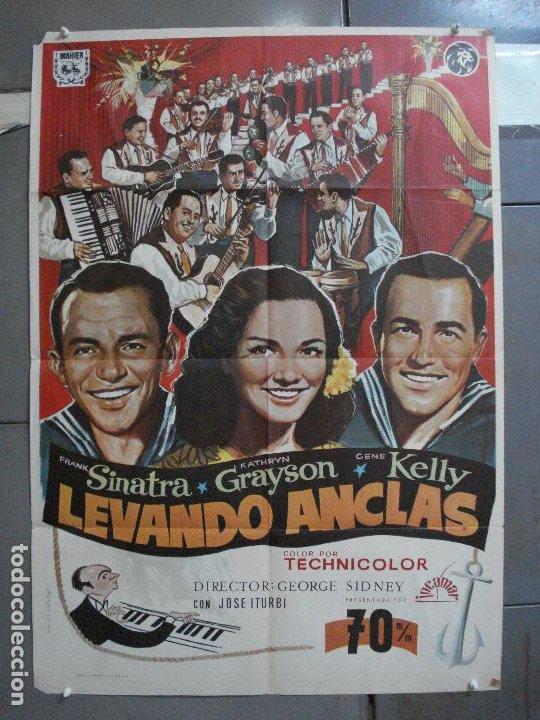 CDO 4873 LEVANDO ANCLAS GENE KELLY FRANK SINATRA ALVARO POSTER ORIGINAL 70X100 ESPAÑOL (Cine - Posters y Carteles - Musicales)