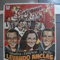 Cine: CDO 4873 LEVANDO ANCLAS GENE KELLY FRANK SINATRA ALVARO POSTER ORIGINAL 70X100 ESPAÑOL. Lote 217094688