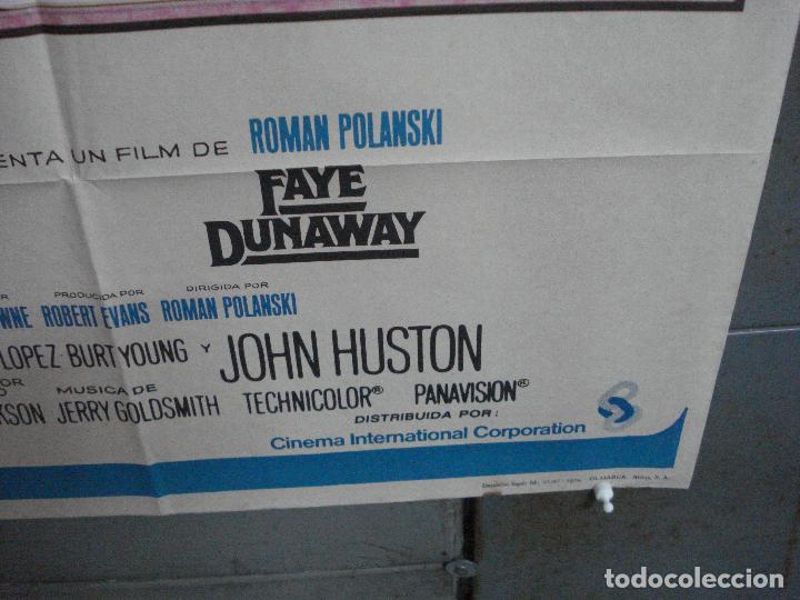 Cine: CDO K344 CHINATOWN ROMAN POLANSKI JACK NICHOLSON FAYE DUNAWAY POSTER ORIGINAL 70X100 ESTRENO - Foto 9 - 217095338