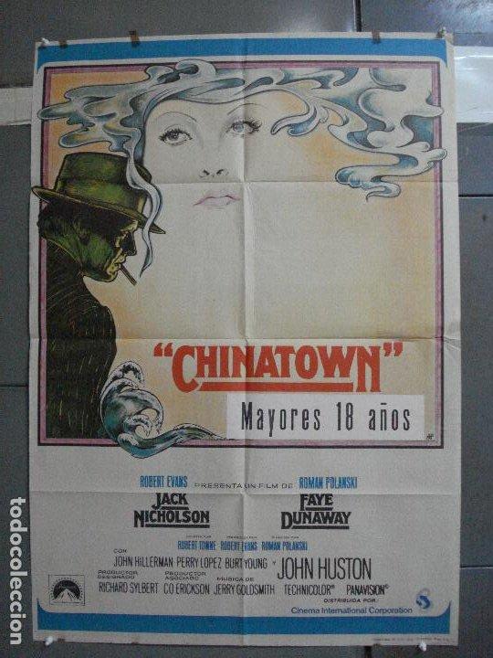 CDO K344 CHINATOWN ROMAN POLANSKI JACK NICHOLSON FAYE DUNAWAY POSTER ORIGINAL 70X100 ESTRENO (Cine - Posters y Carteles - Suspense)