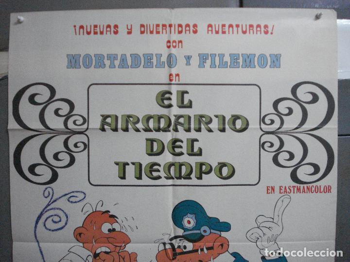 Cine: CDO 4880 EL ARMARIO DEL TIEMPO MORTADELO Y FILEMON IBAÑEZ POSTER ORIGINAL 70X100 ESTRENO - Foto 2 - 217102945