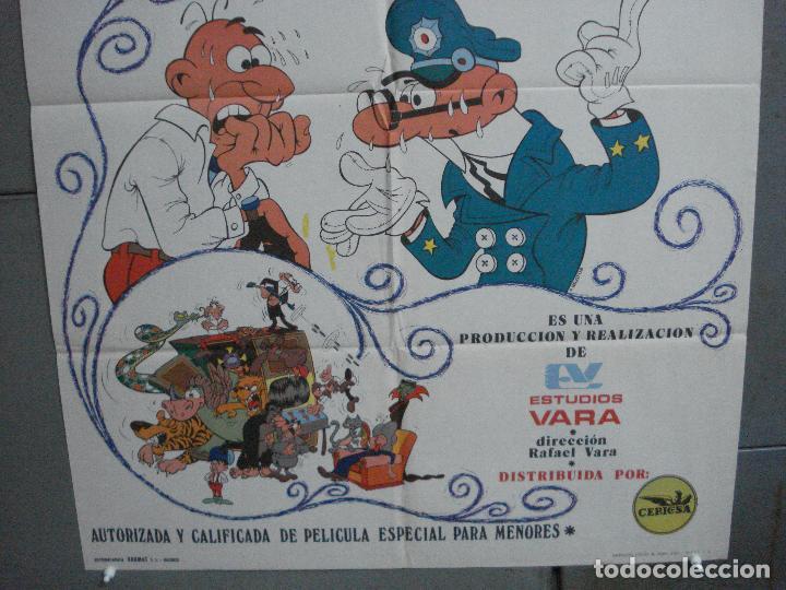 Cine: CDO 4880 EL ARMARIO DEL TIEMPO MORTADELO Y FILEMON IBAÑEZ POSTER ORIGINAL 70X100 ESTRENO - Foto 3 - 217102945