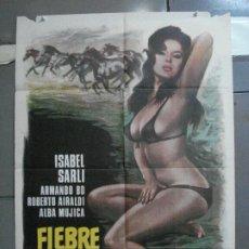 Cine: CDO 4884 FIEBRE SEXUAL ISABEL SARLI SEXY POSTER ORIGINAL 70X100 ESTRENO. Lote 217103525