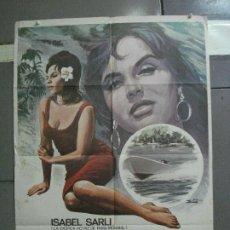 Cine: CDO 4885 LA FURIA DEL PARAGUAY ISABEL SARLI SEXY POSTER ORIGINAL 70X100 ESTRENO. Lote 217103626