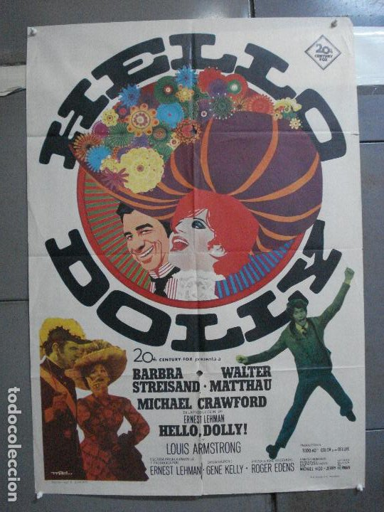 Cine: CDO 4887 HELLO DOLLY BARBRA STREISAND GENE KELLY MAC POSTER ORIGINAL 70X100 ESTRENO - Foto 1 - 217104100