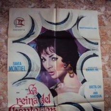 Cine: (CINE-392)CARTEL ORIGINAL LA REINA DE CHANTEDER SARA MONTIEL. Lote 217113360