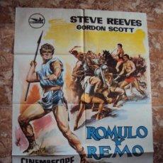 Cine: (CINE-404)RÓMULO Y REMO. STEVE REEVES-GORDON SCOTT-VIRNA LISI. CARTEL ORIGINAL. Lote 217117031