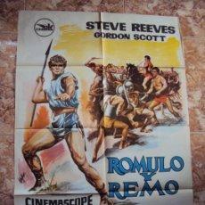 Cine: (CINE-405)RÓMULO Y REMO. STEVE REEVES-GORDON SCOTT-VIRNA LISI. CARTEL ORIGINAL. Lote 217117205