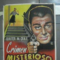 Cine: AAN91 CRIMEN MISTERIOSO WALTER MCGRAIL QUEENIE SMITH LLOAN POSTER ORIGINAL 70X100 ESTRENO LITOGRAFIA. Lote 217119441