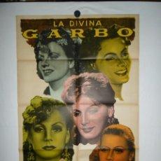 Cine: FESTIVAL LA DIVINA GARBO - 110 X 75. Lote 217126957