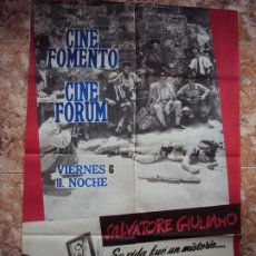 Cine: (CINE-418)SALVATORE GIULIANO FRANCESCO ROSI POSTER ORIGINAL ESTRENO. Lote 217128008