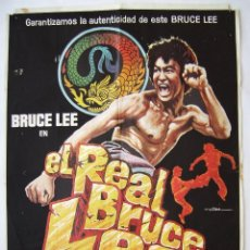 Cinema: EL REAL BRUCE LEE, CON BRUCE LEE. PÓSTER 70 X 100,5 CMS.1980. DISEÑO: MAC.. Lote 217173830