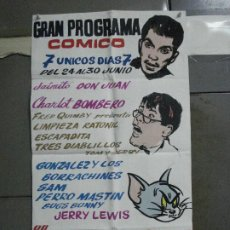 Cine: AAO35 POSTER CARTEL PINTADO A MANO CANTINFLAS JERRY LEWIS TOM Y JERRY. Lote 217196226
