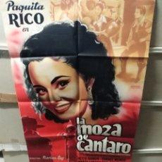 Cine: LA MOZA DE CANTARO PAQUITA RICO POSTER ORIGINAL 70X100 YY(2378)LITOGRAFÍA. Lote 217214766