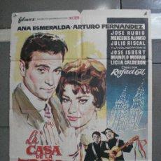 Cine: CDO 4912 LA CASA DE LA TROYA ARTURO FERNANDEZ RAFAEL GIL LA TUNA JANO POSTER ORIGINAL 70X100 ESTRENO. Lote 217223237