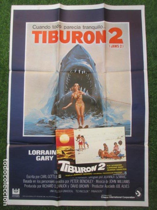 CARTEL CINE + 12 FOTOCROMOS TIBURON 2 LORRAYNE GARY CCF167 (Cine - Posters y Carteles - Terror)