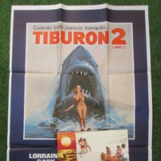 Cine: CARTEL CINE + 12 FOTOCROMOS TIBURON 2 LORRAYNE GARY CCF167. Lote 217236996