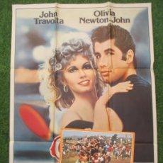 Cine: CARTEL CINE + 12 FOTOCROMOS GREASE BRILLANTINA JOHN TRAVOLTA OLIVIA NEWTON-JOHN 1978 CCF170. Lote 217238383