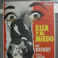 Cine: CDO 4914 ELLA Y EL MIEDO LEON KLIMOVSKY TERROR ESPAÑOL POSTER ORIGINAL 70X100 ESTRENO. Lote 217240350