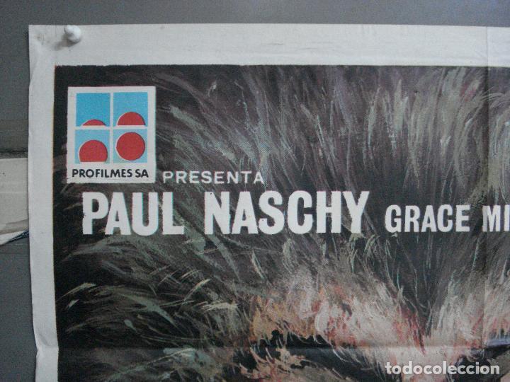 Cine: CDO 4918 LA MALDICION DE LA BESTIA PAUL NASCHY POSTER ORIGINAL 70X100 ESTRENO - Foto 2 - 217243722