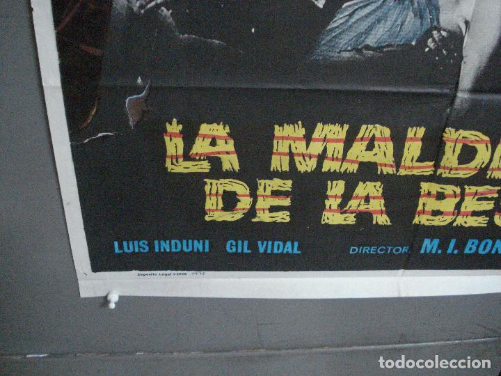 Cine: CDO 4918 LA MALDICION DE LA BESTIA PAUL NASCHY POSTER ORIGINAL 70X100 ESTRENO - Foto 5 - 217243722