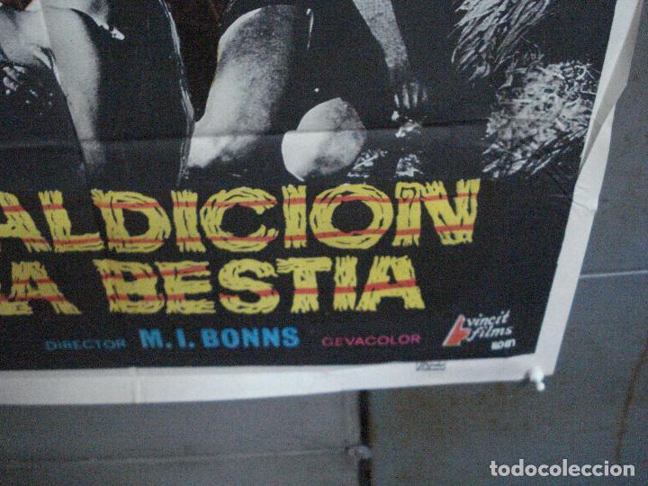 Cine: CDO 4918 LA MALDICION DE LA BESTIA PAUL NASCHY POSTER ORIGINAL 70X100 ESTRENO - Foto 9 - 217243722