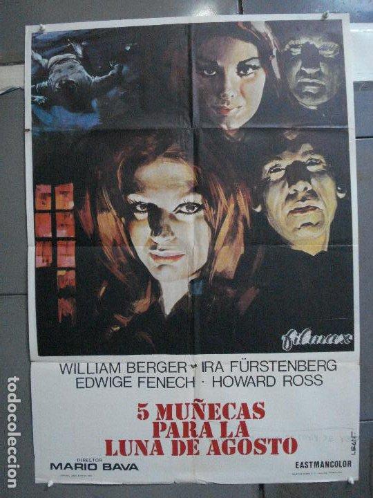 CDO 4923 5 MUÑECAS PARA LA LUNA DE AGOSTO MARIO BAVA EDWIGE FENECH LEAN POSTER ORIG 70X100 ESTRENO (Cine - Posters y Carteles - Terror)