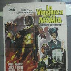 Cine: CDO 4924 LA VENGANZA DE LA MOMIA PAUL NASCHY CARLOS AURED HERMIDA POSTER ORIGINAL 70X100 ESTRENO. Lote 217246101