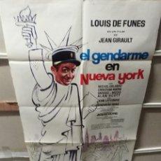 Cine: EL GENDARME EN NUEVA YORK LOUIS DE FUNES POSTER ORIGINAL 70X100 YY (2401). Lote 217246813