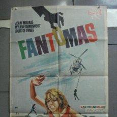 Cine: CDO 4926 FANTOMAS LOUIS DE FUNES JEAN MARAIS MYLENE DEMONGEOT JANO POSTER ORIGINAL 70X100 ESTRENO. Lote 217247138