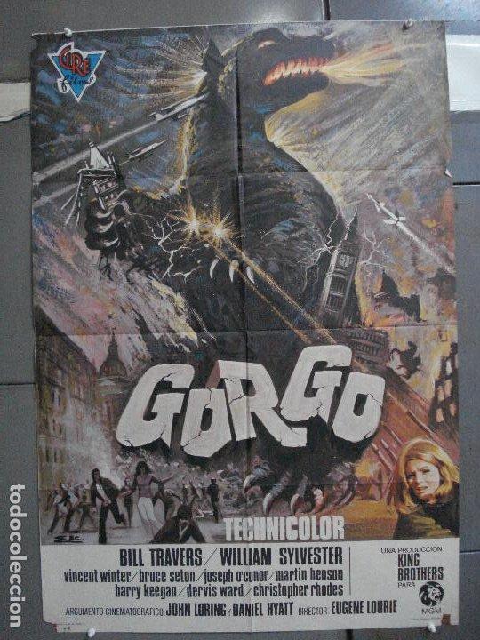 CDO 4930 GORGO BILL TRAVERS EUGENE LORIE POSTER ORIGINAL ESTRENO 70X100 (Cine - Posters y Carteles - Terror)