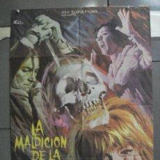 Cine: CDO 4931 LA MALDICION DE LA CALAVERA PETER CUSHING CHRISTOPHER LEE POSTER ORIGINAL 70X100 ESTRENO. Lote 217250857