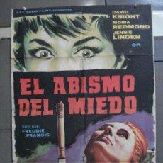Cine: CDO 4947 EL ABISMO DEL MIEDO HAMMER FREDDIE FRANCIS PERIS POSTER ORIGINAL 70X100 ESTRENO. Lote 217255553