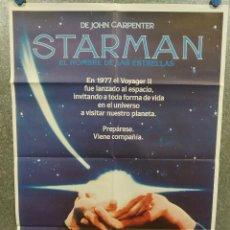 Cine: STARMAN, EL HOMBRE DE LAS ESTRELLAS. JEFF BRIDGES KAREN ALLEN JOHN CARPENTER AÑO 1984 POSTER ORIGINA. Lote 269099328