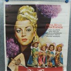 Cinema: LOS TRES MOSQUETEROS. GENE KELLY, LANA TURNER, JUNE ALLYSON. POSTER ORIGINAL. Lote 217275138