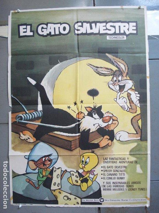 CDO 4964 EL GATO SILVESTRE SPEEDY GONZALES BUGS BUNNY LOONEY TUNES WARNER POSTER ORIGINAL 70X100 (Cine - Posters y Carteles - Infantil)