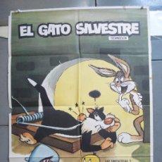 Cine: CDO 4964 EL GATO SILVESTRE SPEEDY GONZALES BUGS BUNNY LOONEY TUNES WARNER POSTER ORIGINAL 70X100. Lote 217332331