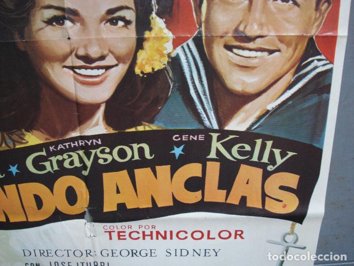 Cine: CDO 4965 LEVANDO ANCLAS GENE KELLY FRANK SINATRA ALVARO POSTER ORIGINAL 70X100 ESPAÑOL - Foto 8 - 217333922