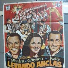 Cine: CDO 4965 LEVANDO ANCLAS GENE KELLY FRANK SINATRA ALVARO POSTER ORIGINAL 70X100 ESPAÑOL. Lote 217333922