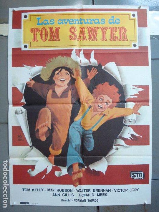 CDO 4968 LAS AVENTURAS DE TOM SAWYER TOMMY KELLY MARK TWAIN MONTALBAN POSTER ORIGINAL 70X100 ESPAÑOL (Cine - Posters y Carteles - Infantil)