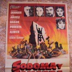 Cine: (CINE-447)SODOMA Y GOMORRA STEWART GRANGER ALDRICH LEONE PEPLUM POSTER ORIGINAL. Lote 217342337