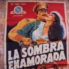 Cine: (CINE-448)CARTEL ORIGINAL LA SOMBRA ENAMORADA (DOLORES DEL RÍO - PEDRO ARMENDÁRIZ - VÍCTOR JUNCO). Lote 217342440