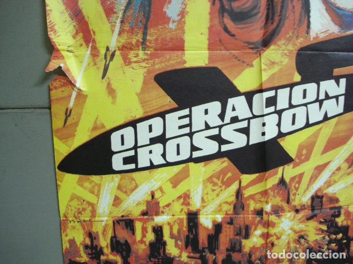 Cine: CDO 4982 OPERACION CROSSBOW SOFIA LOREN GEORGE PEPPARD POSTER ORIGINAL 70X100 ESPAÑO R-75 - Foto 4 - 217353032