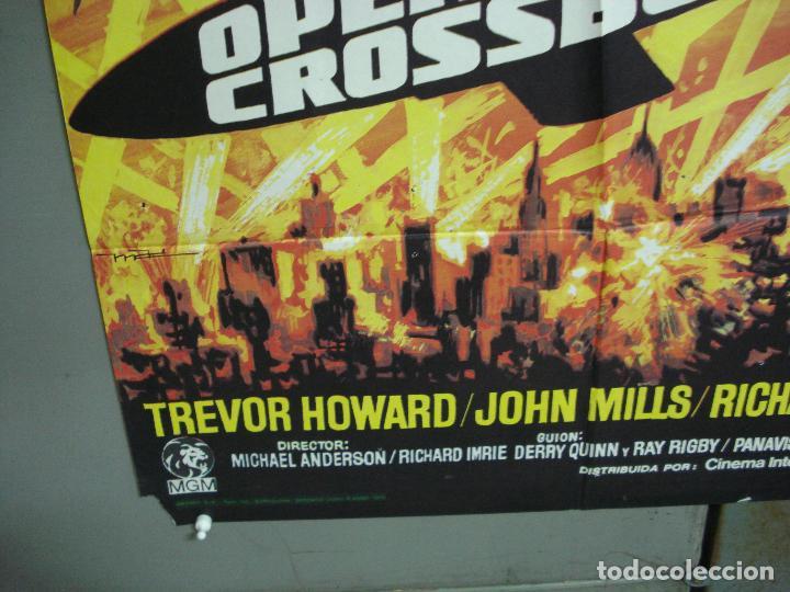 Cine: CDO 4982 OPERACION CROSSBOW SOFIA LOREN GEORGE PEPPARD POSTER ORIGINAL 70X100 ESPAÑO R-75 - Foto 5 - 217353032