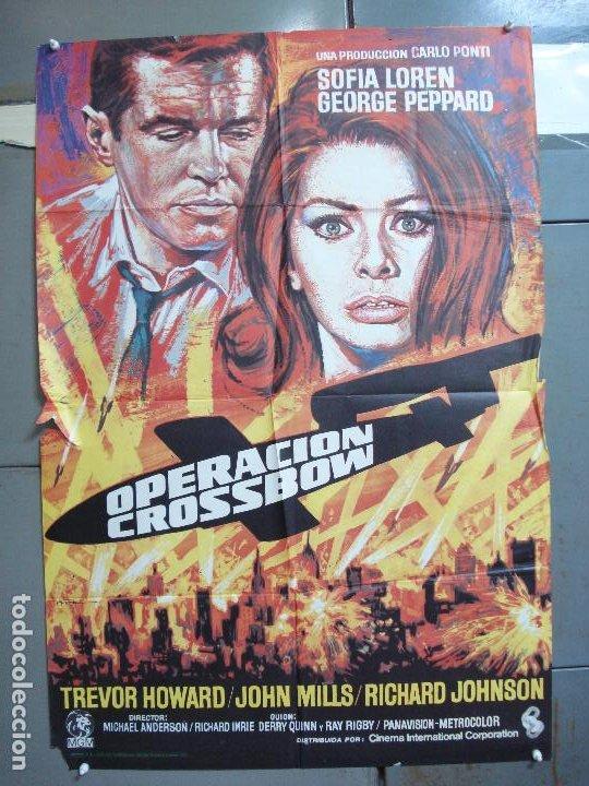 CDO 4982 OPERACION CROSSBOW SOFIA LOREN GEORGE PEPPARD POSTER ORIGINAL 70X100 ESPAÑO R-75 (Cine - Posters y Carteles - Bélicas)