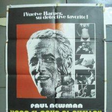 Cine: CDO 4988 CON EL AGUA AL CUELLO PAUL NEWMAN JOANNE WOODWARD MACDONALD POSTER ORIGINAL 70X100 ESTRENO. Lote 217359035